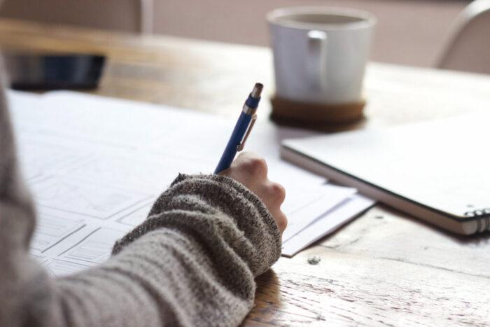 aanvraag schrijven